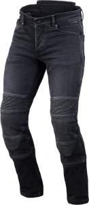Jeans moto accorciati Macna Individi con fibra aramidica Nero