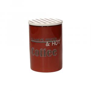 Tognana Barattolo Caffe' Ceramica Rosso