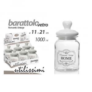 Gicos Barattolo Vetro Decorato 1000 ml