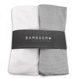 Cover coprimaterasso per lettino e culla Bamboom Grigio 2 pezzi
