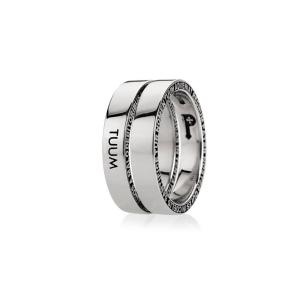 Anello Tuum Numerodue Silver