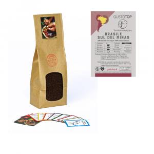 Caffè Brasile Sul de Minas macinato moka ed espresso, confezione da 250 grammi