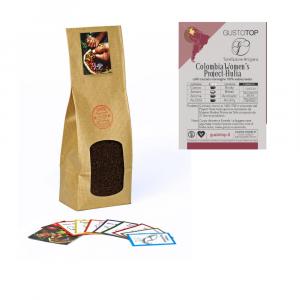 Caffè monorigine Colombia macinato per moka ed espresso, confezione da 250 grammi