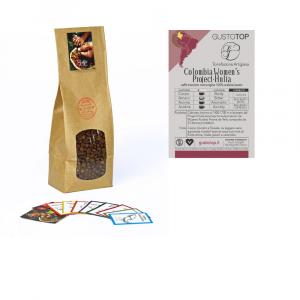 Caffè monorigine in grani Colombia confezioni disponibili: 1 Kg, 500 grammi e 250 grammi