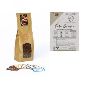 Caffè monorigine in grani Cuba Serrano confezioni disponibili: 1 Kg, 500 grammi e 250 grammi