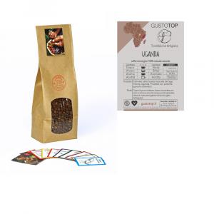 Caffè monorigine in grani Uganda Naturale confezioni disponibili: 1 Kg, 500 grammi e 250 grammi