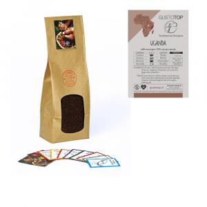 Caffè monorigine Uganda Naturale per moka o espresso, confezione da 1kg, 500gr e 250 gr