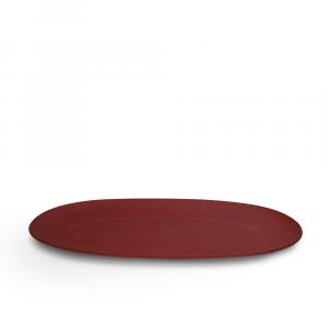 Omada Piatto Portata Pangea Ovale Rosso Fuoco 26x48.2x2.2