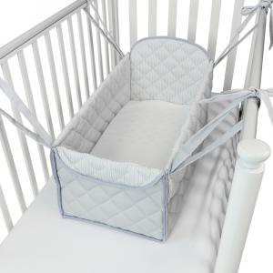 Mini letto riduttore 360° completo trapuntato Grigio