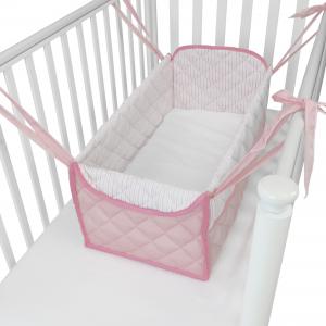 Mini letto riduttore letto  360° completo trapuntato Rosa