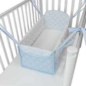 Mini letto riduttore 360° letto completo trapuntato Azzurro