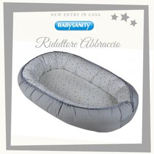 Babysanity - Riduttore lettino culla neonato abbraccio sfoderabile a stelline grigio