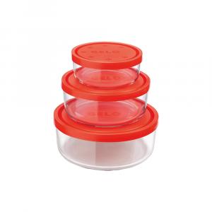 Bormioli Set Contenitore Gelo Box Arancio 3pezzi