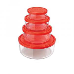 Bormioli Set Contenitore Gelo Box Arancio 4pezzi
