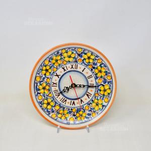 Orologio In Ceramica Dipinto A Mano Funzionante