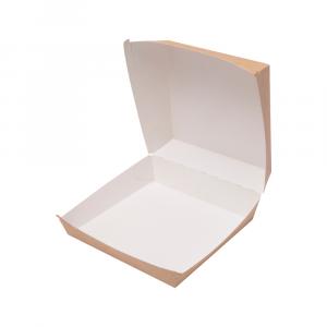 Contenitore panino grande in cartoncino bio 14,5x14,5x10 cm avana
