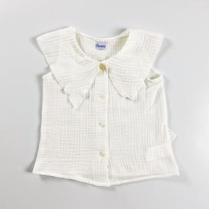 Camicia in cotone organico con collettone