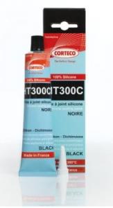 Silicone nero 300°C tubo gr. 80