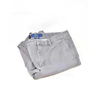 Pantalone Donna Grigio Ralph Laurent Tg 8 Original
