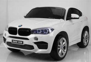 Auto Elettrica Bambini BMW X6 M 12V Bianca 2 POSTI