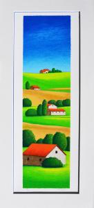 Fiorentini Arturo Terre di Norcia Serigrafia Form cm 70x25