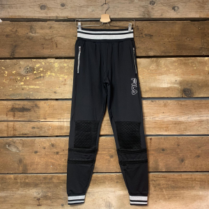 Pantalone Fila Asuna con Retina Basket Nero e Argento