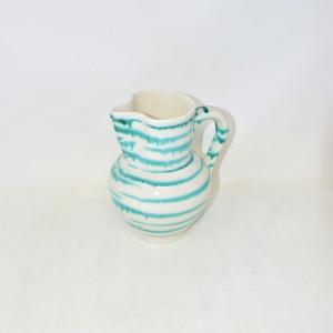 Caraffa Ceramica Bianca Verde Righe Austria 21cm