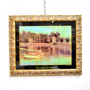 Quadro 60*50 D'orato Con Stampa Su Vetro Claude Monet