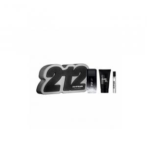 Carolina Herrera 212 Vip Black Eau De Toilette Spray 100ml Set 3 Pieces 2020