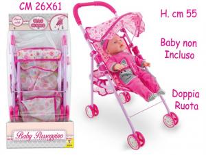 CIAO CICCIO - BABY PASSEGGINO IN METALLO 2 ASS H. 55 CM 66441 TEOREMA