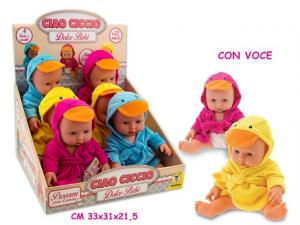 CIAO CICCIO - BAMBOLOTTO PAPERO 3 ASS CON VOCE 30 CM 66146 TEOREMA