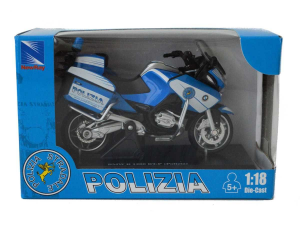 MOTO 1:18 BMW R1200RT POLIZIA 67673 NEW RAY