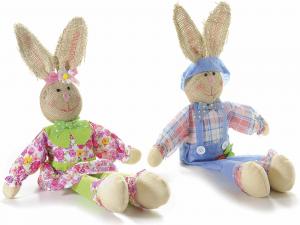 2 Conigli gambelunghe decorativo