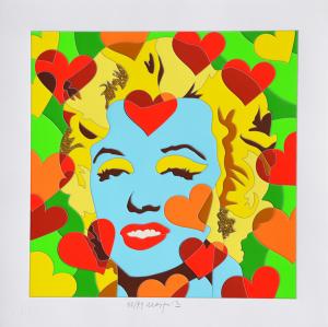 Nespolo Ugo Happy Days Serigrafia Formato cm 50x50
