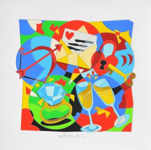 Nespolo Ugo Le ore serene Serigrafia formato cm 50x50