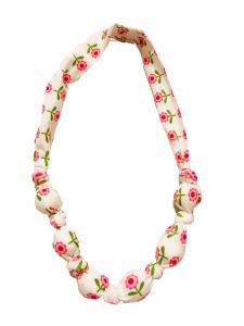 Fiori rosa- collana di stoffa