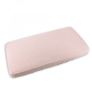 Cover coprimaterasso per lettino Bamboom Rigato Bianco/Rosa