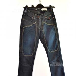 Pantaloni Donna Jekerson Tg26 Blu Scuro/toppa Scamosciata
