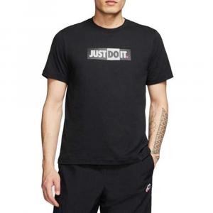 Nike T-shirt Just Do It Black da Uomo