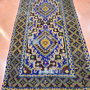 Tappeto Persiano 108*200 Cm Colore Blu Marrone (difettato Al Centro)