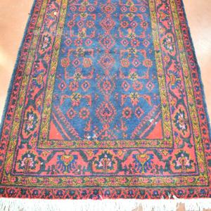 Tappeto Persiano Blu Scuro E Rosso 116*200 Cm (difetti)