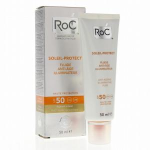 Fluido Viso 50 ML Illuminante con Acido Ialuronico ad Azione Anti Rughe con Protezione SPF 50+