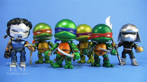 Teenage Mutant Ninja Turtles (the Loyal Subjects) Wave 1 Metallic - Set 6 personaggi