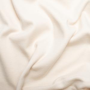 Organic interlock fabric color cream