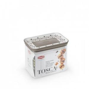 Stefanplast Barattolo Rettangolare Tosca Tortora 1.20 L