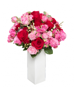 Bouquet rose rosse e rosa € 60,00