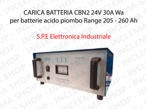 Battery Charger CBN2 24V 30A Wa for batterie Lead-Acid Range 205 - 260 Ah (5 Hour Cycle) - S.P.E