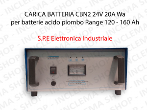 Battery Charger CBN2 24V 20A Wa for batterie Lead-Acid Range 120 - 160 Ah (5 Hour Cycle) - S.P.E