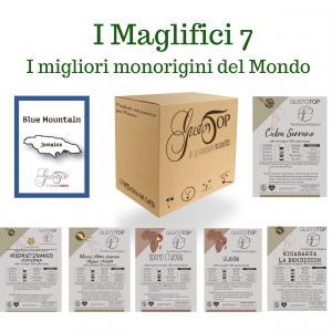 THE MAGNIFICENT 7, THE 7 MONORIGINS AMONG THE BEST OF THE WORLD, N. 49 COFFEE IN PODS.