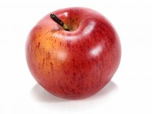 12 mele rosse decorative artificiali